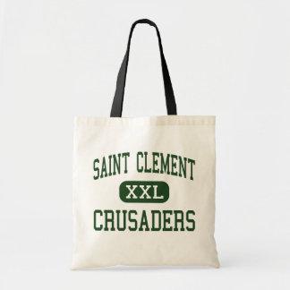 Saint Clement - Crusaders - Catholic - Center Line Budget Tote Bag