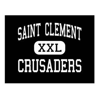 Saint Clement - Crusaders - Catholic - Center Line Postcard
