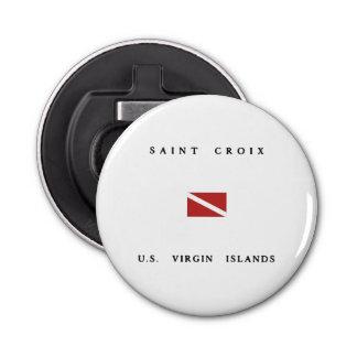 Saint Croix Scuba Dive Flag Bottle Opener