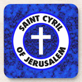 Saint Cyril of Jerusalem Beverage Coaster
