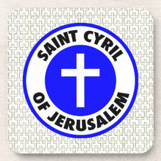 Saint Cyril of Jerusalem Drink Coaster