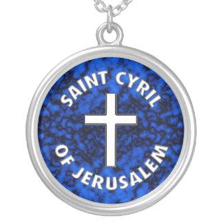 Saint Cyril of Jerusalem Round Pendant Necklace