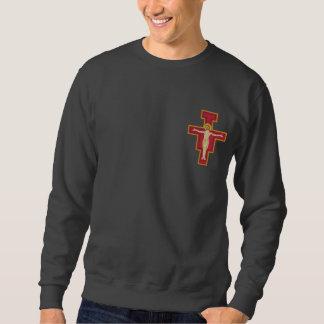 Saint Damiano Cross Embroidered Sweatshirt