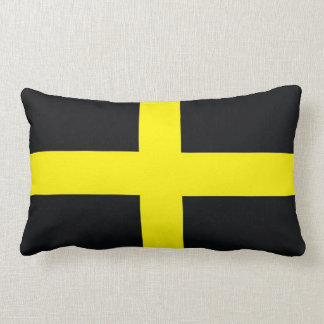 saint david cross flag united kingdom wales lumbar pillow