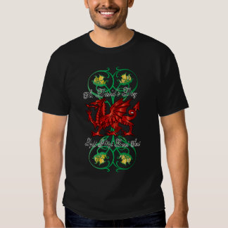 Saint David's Day T Shirt With Daffodils and Drago