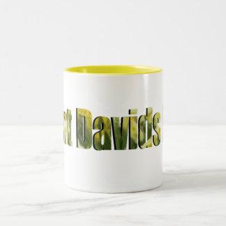 Saint Davids Day Text Two-Tone Coffee Mug