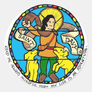 Saint Davy Round Sticker