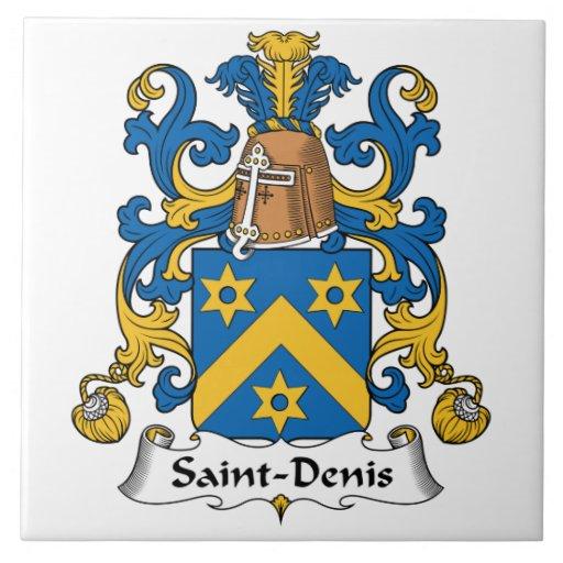 Saint-Denis Family Crest Large Square Tile