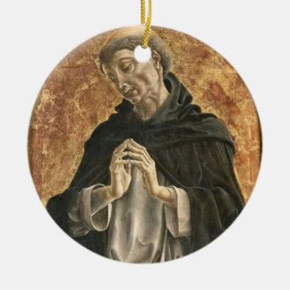 Saint Dominic (tempera on panel) Ceramic Ornament