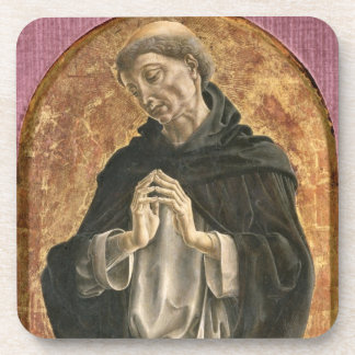 Saint Dominic (tempera on panel) Coaster