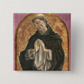 Saint Dominic (tempera on panel) Pinback Button