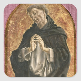 Saint Dominic (tempera on panel) Square Sticker
