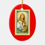 Saint Dymphna-Patron of mental illness Christmas Ornament