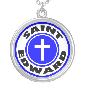 Saint Edward Silver Plated Necklace
