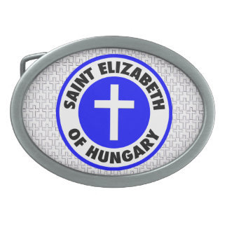 Saint Elizabeth of Hungary Oval Belt Buckle