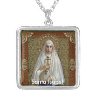 Saint Elizabeth Santa Isabel of Portugal Necklace