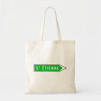Saint-Étienne, Road Sign, France Tote Bag