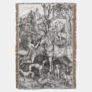 Saint Eustace by Albrecht Durer Throw Blanket