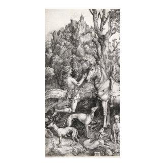 Saint Eustace Engraving by Albrecht Durer Card