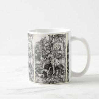 Saint Eustace Engraving by Albrecht Durer Coffee Mug