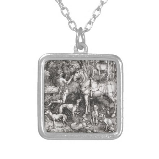 Saint Eustace Engraving by Albrecht Durer Custom Necklace