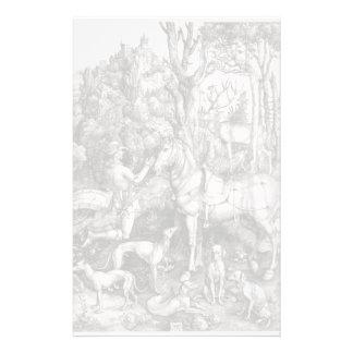 Saint Eustace Engraving by Albrecht Durer Stationery