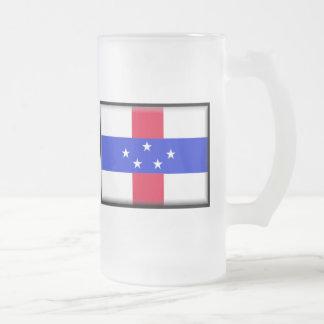 Saint Eustatius Flag Frosted Glass Beer Mug
