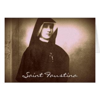 saint faustina greeting card