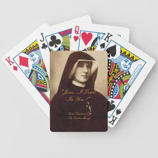 SAINT FAUSTINA OF THE DIVINE MERCY BICYCLE PLAYING CARDS