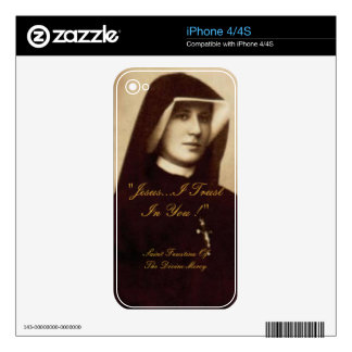 SAINT FAUSTINA OF THE DIVINE MERCY DECALS FOR iPhone 4S