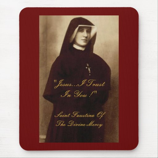 SAINT FAUSTINA OF THE DIVINE MERCY MOUSE PADS
