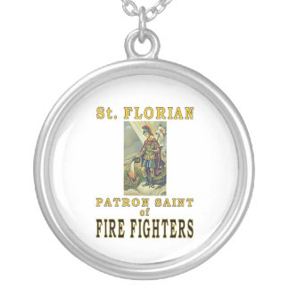 SAINT FLORIAN SILVER PLATED NECKLACE
