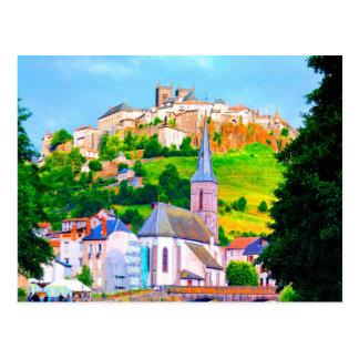 saint flour france town church peace and joy postcards