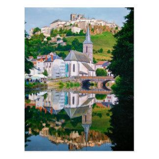 Saint-Flour in France Postcard