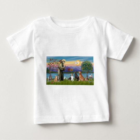 Saint Fraancis - 3 dogs, 2 cats +++ Baby T-Shirt