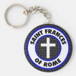 Saint Frances of Rome Basic Round Button Keychain
