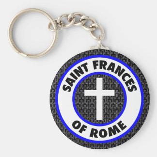 Saint Frances of Rome Basic Round Button Keychain