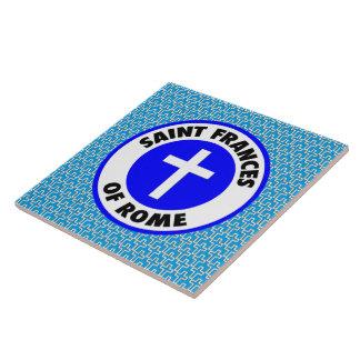 Saint Frances of Rome Tile