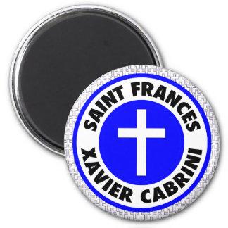 Saint Frances Xavier Cabrini 2 Inch Round Magnet