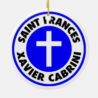 Saint Frances Xavier Cabrini Ceramic Ornament