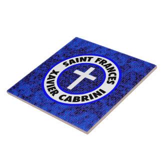 Saint Frances Xavier Cabrini Ceramic Tile