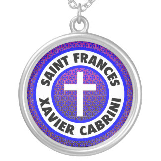 Saint Frances Xavier Cabrini Round Pendant Necklace