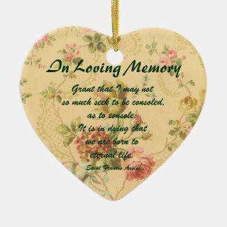 Saint Francis Assisi In Loving Memory Ornament