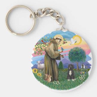 Saint Francis - Black Portie 5bw Key Chain