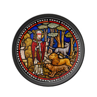 Saint Francis Blessing Beasts Artisan Plate