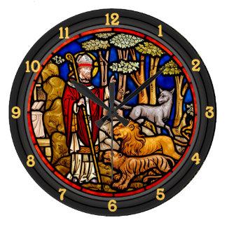 Saint Francis Blessing Beasts Wall Clock