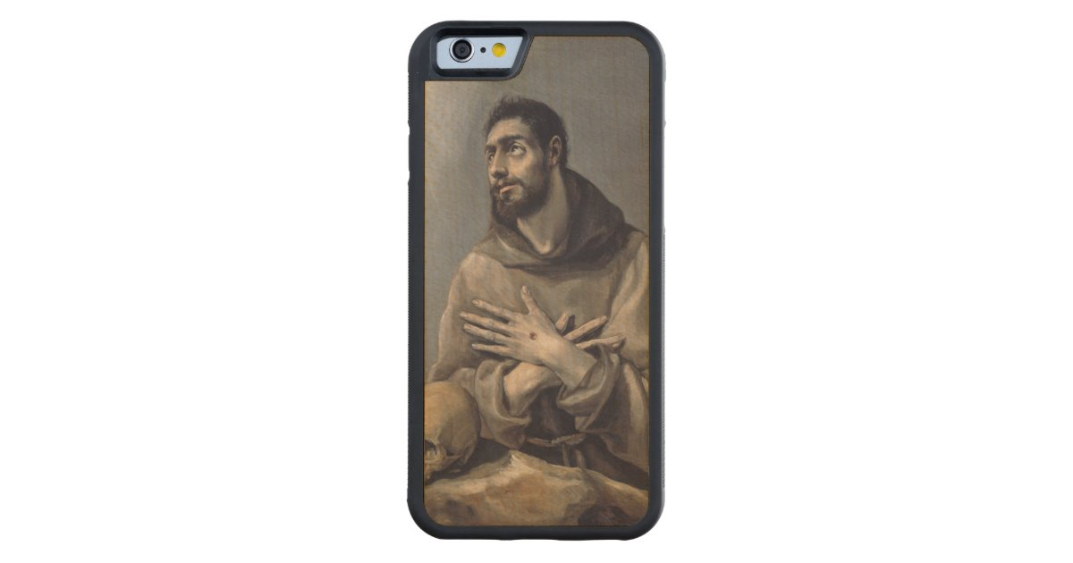 Saint francis by el greco carved maple iphone bumper