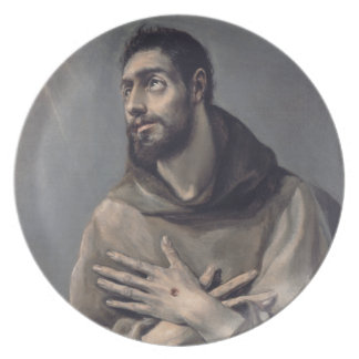 Saint Francis by El Greco Dinner Plate