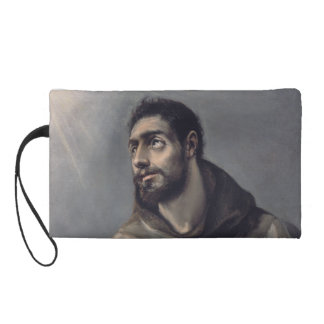 Saint Francis by El Greco Wristlet Purse