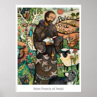 Saint Francis Catholic Classroom Poster